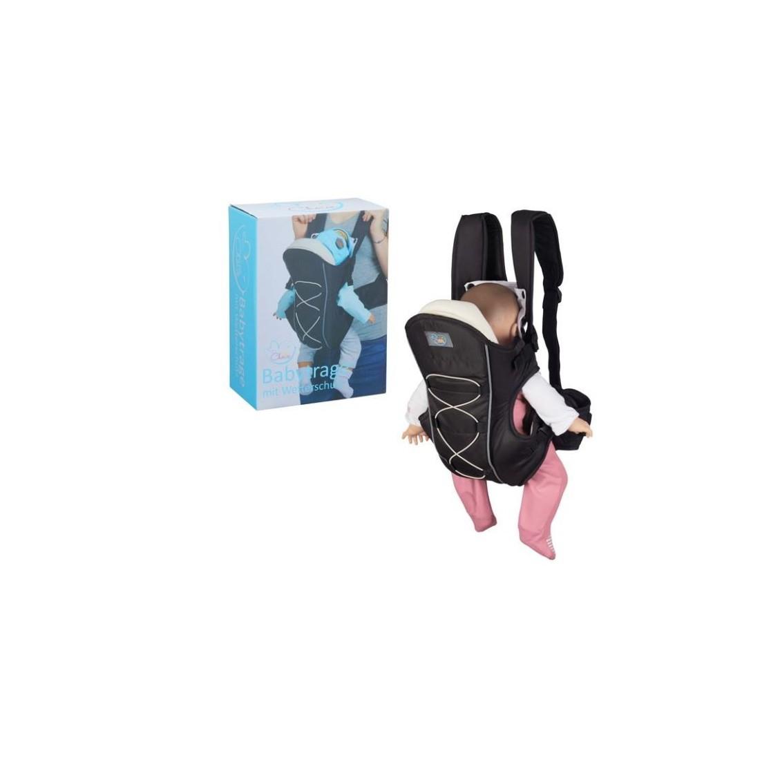 Porte bébé Little choice noir ventral ou dorsal