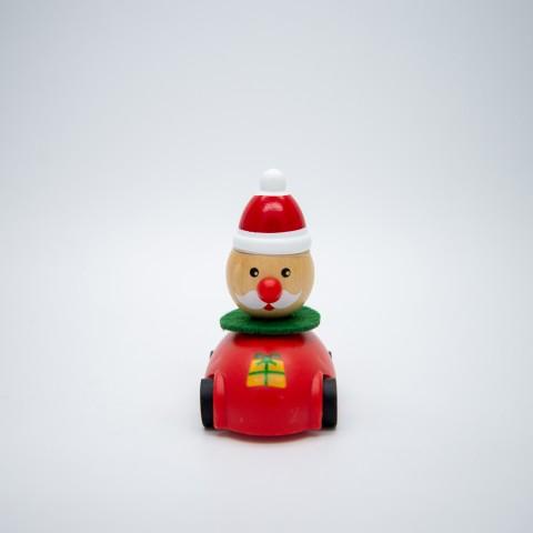 Véhicule à rétro-friction - Père-Noël