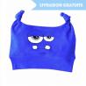 Bonnet bébé rigolo Monstre bleu