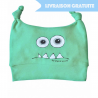 Bonnet bébé rigolo Monstre vert
