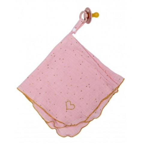 Doudou lange blush pois or