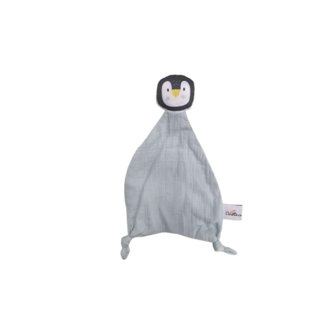Doudou original en double gaze de coton - Pingouin