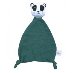 Doudou original Panda vert