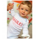 Body bébé rigolo mixte - Fragile … à manipuler avec tendresse
