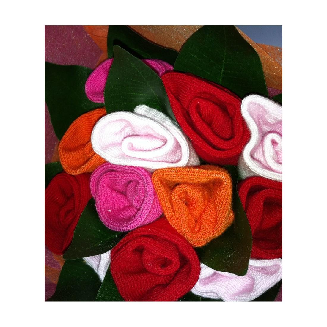 Cadeau de naissance original pour bébé fille - bouquet de chaussettes