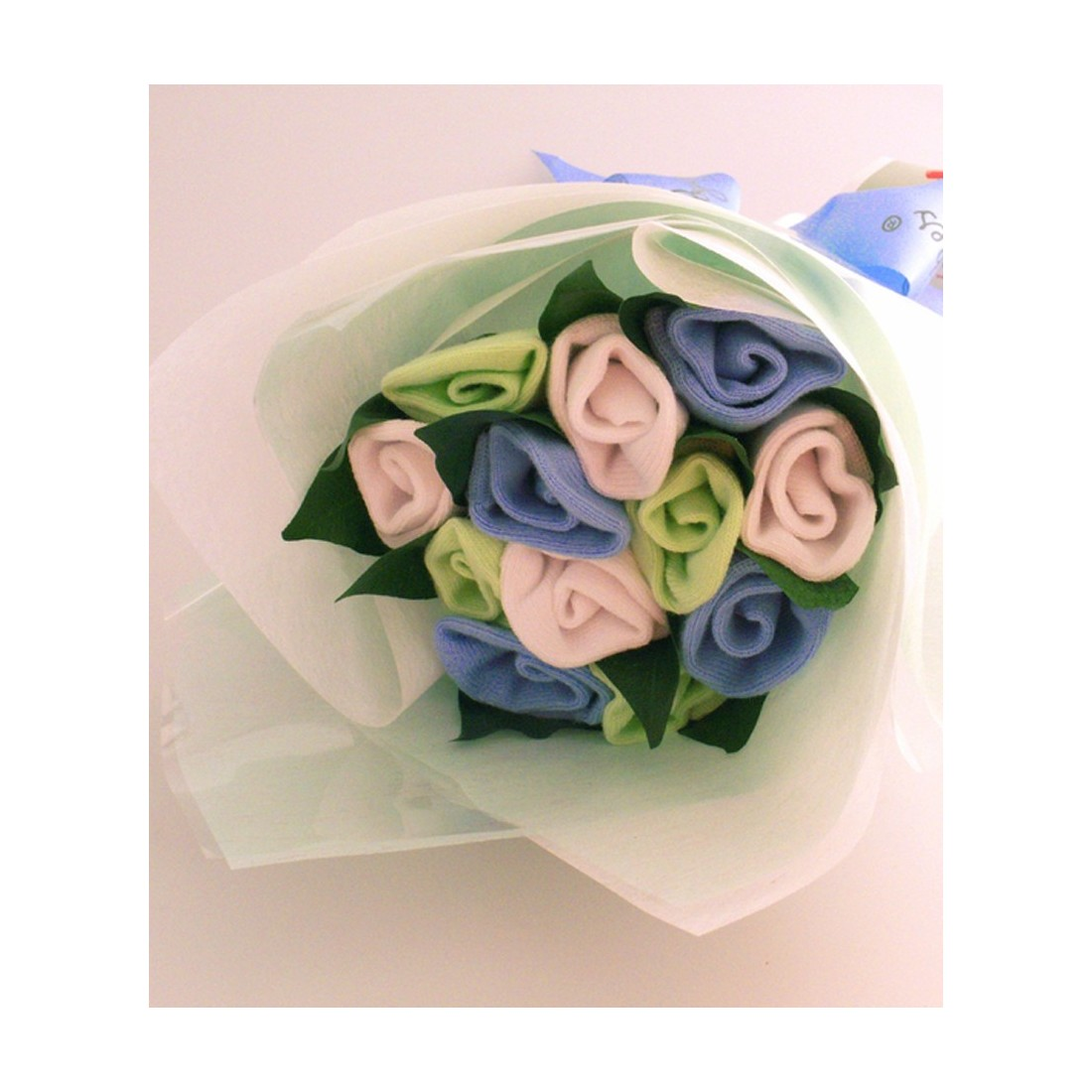 Bouquet de naissance - chaussettes bébé