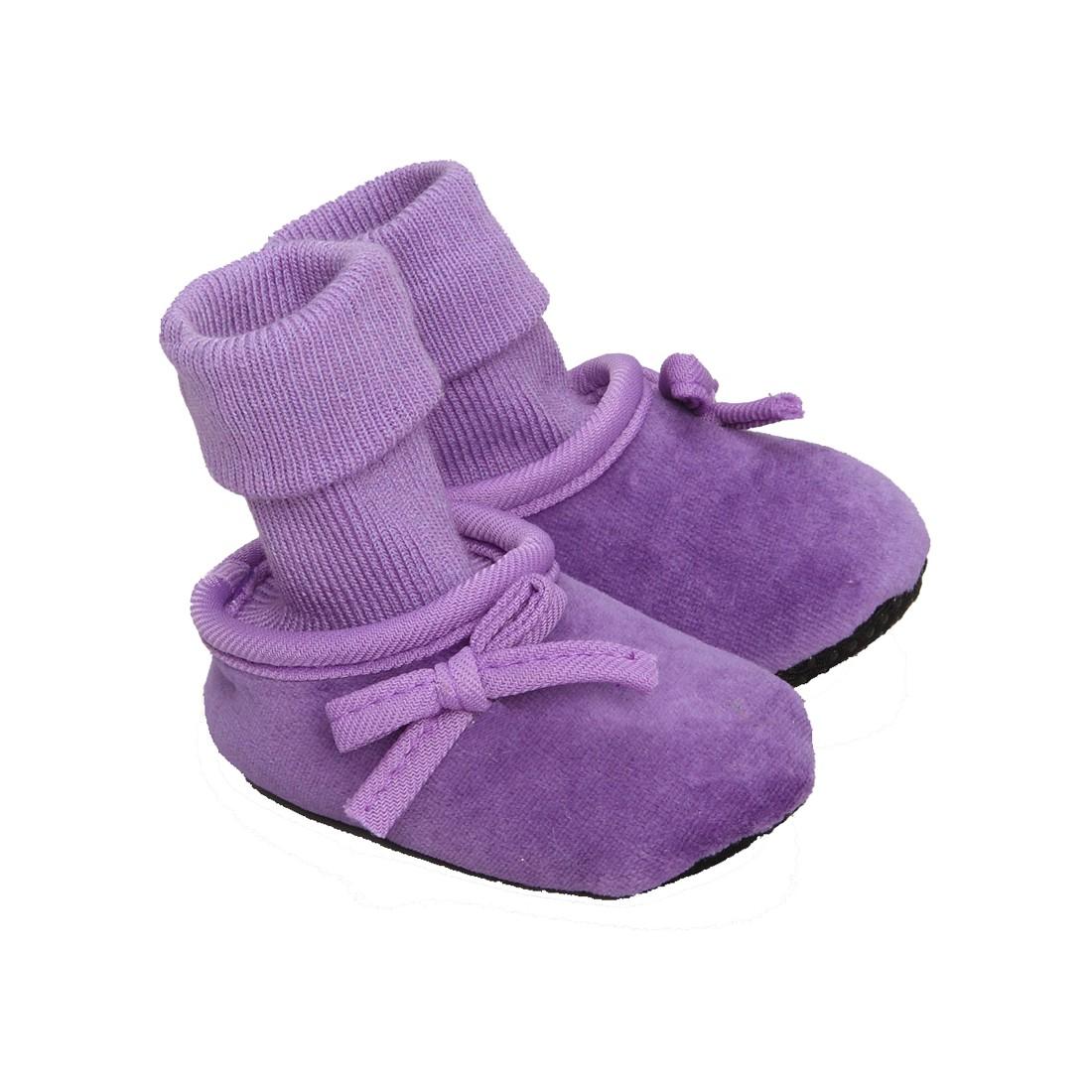 Chaussons-chaussettes bébé fille - Frances