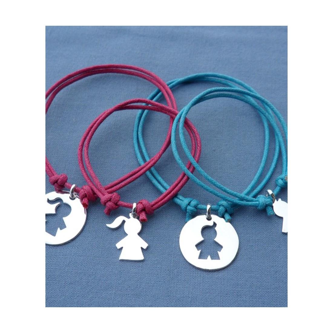 Bracelet bébé et maman - bijoux duo naissance Louis-Louise