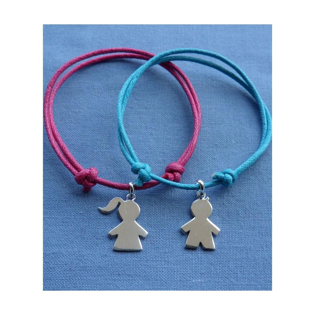 Bracelet cordon à graver bebe fille ou garçon - Mixte