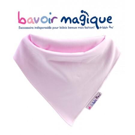 Bavoir - Bandana pour bébés baveux - bavoir magique - Rose