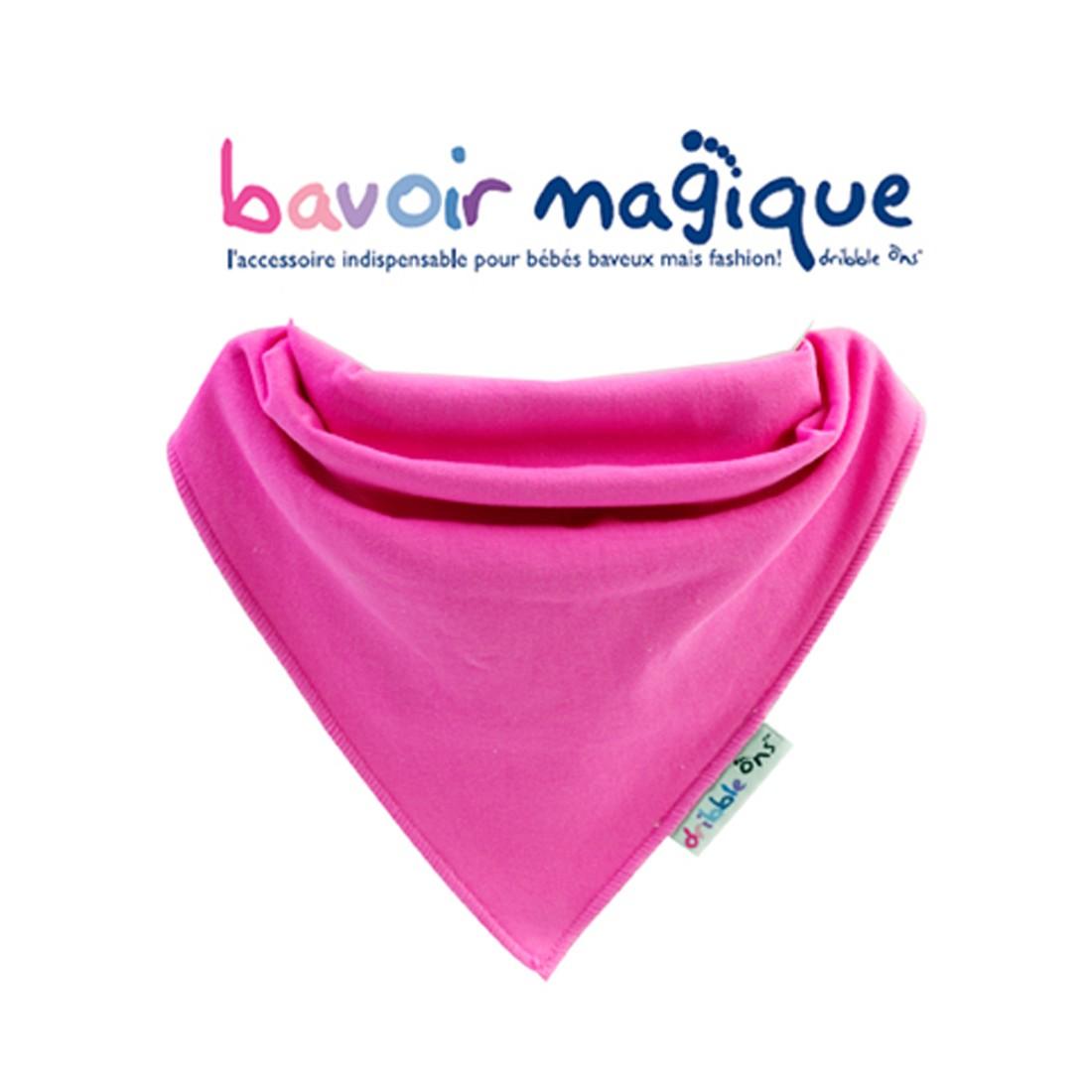 Bavoir - Bandana pour bébés baveux - bavoir magique - fushia