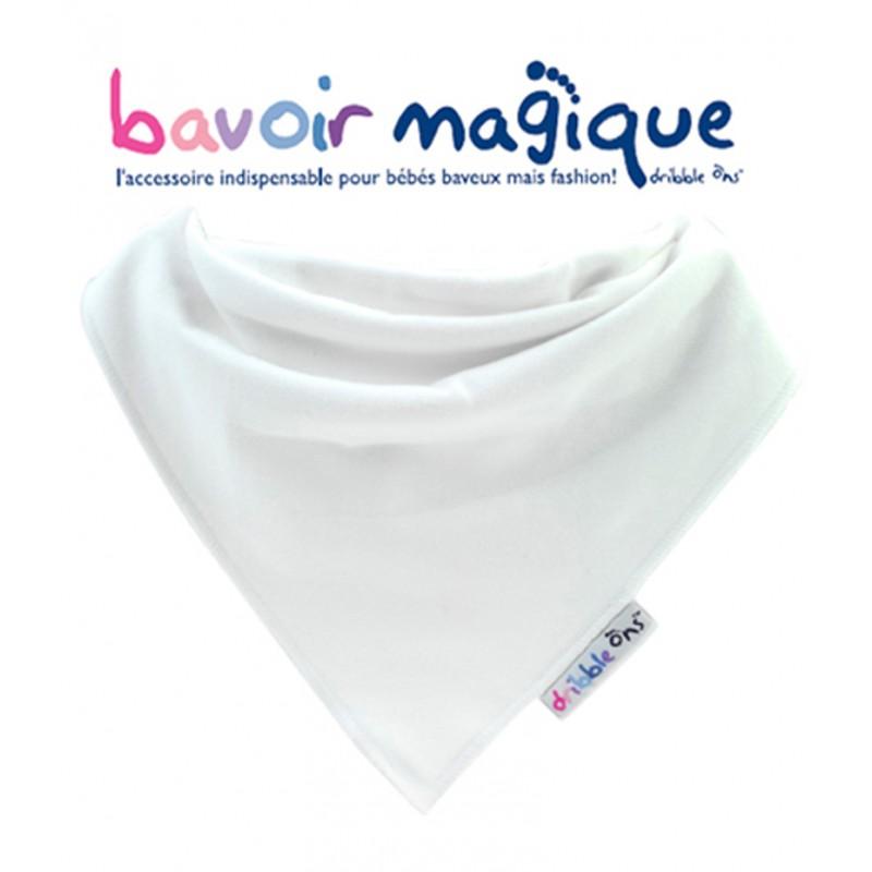 Bavoir - Bandana pour bébés baveux - bavoir magique - Blanc