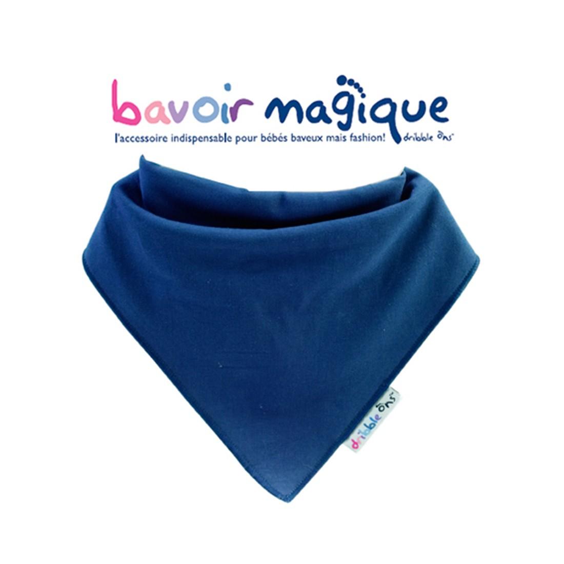 Bavoir - Bandana pour bébés baveux, bavoir magique, Marine