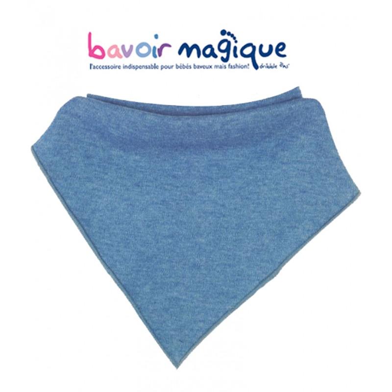 Bavoir - Bandana pour bébés baveux - bavoir magique - Denim