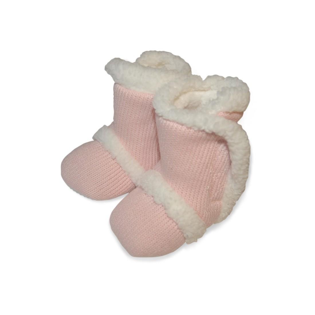 chaussons b b originaux comme des botillons en laine et fourr s. Black Bedroom Furniture Sets. Home Design Ideas