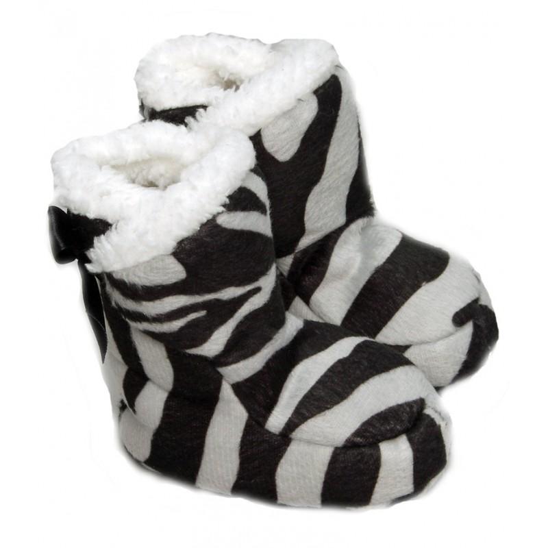 Chaussons bébé rigolo Zebre