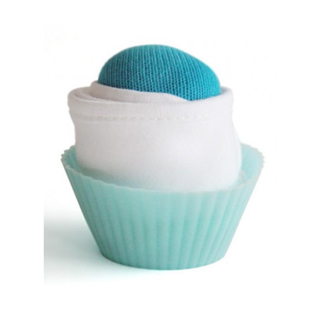 Cupcakes - Bavoir et chaussettes nouveau-né