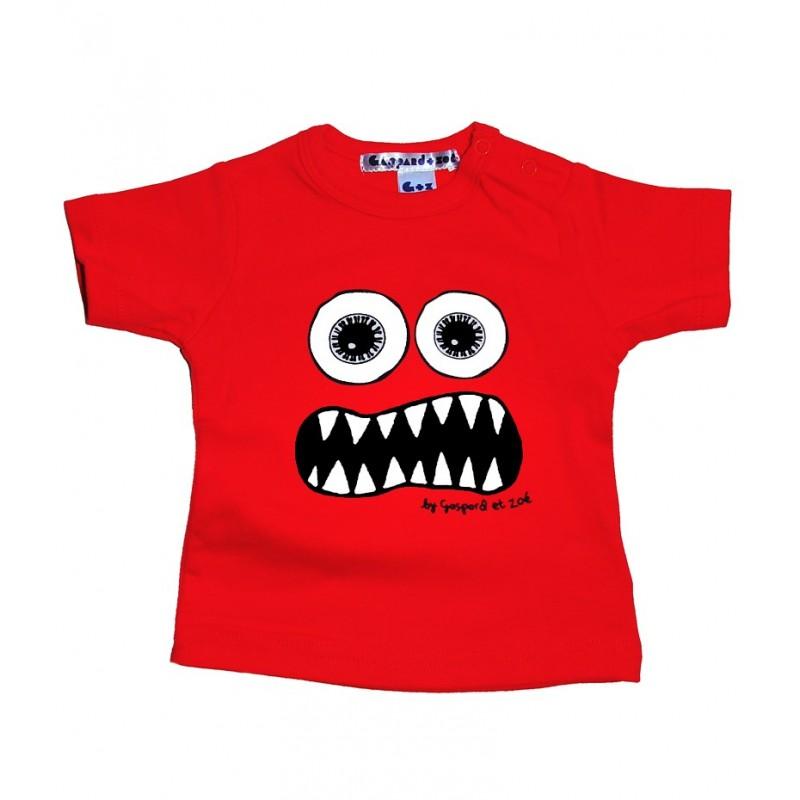 Tshirt bébé Monstre rouge