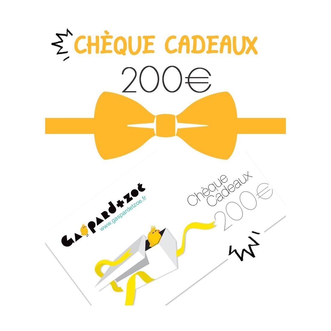 Carte cadeaux naissance 200 euros