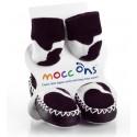 Chaussons souples bébé Mocc Ons Vache