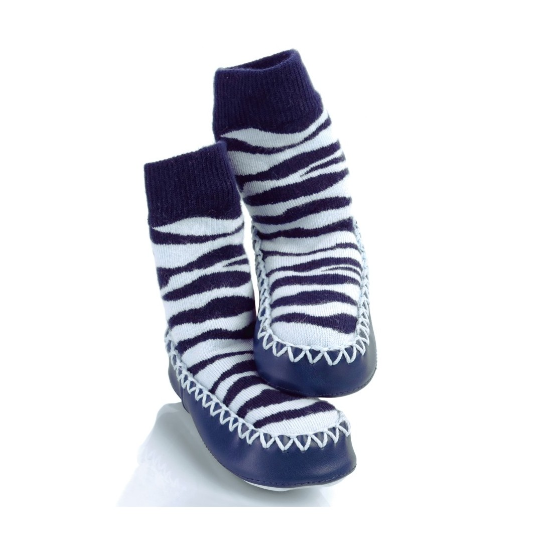 Chaussons bébé tricot Mocc Ons Zebre
