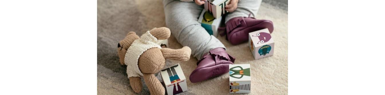 Chaussons bebe - Chaussures en cuir souple