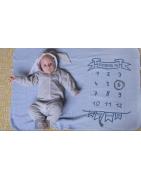 Lange d'allaitement - Emmailloter bébé - Plaids et couvertures